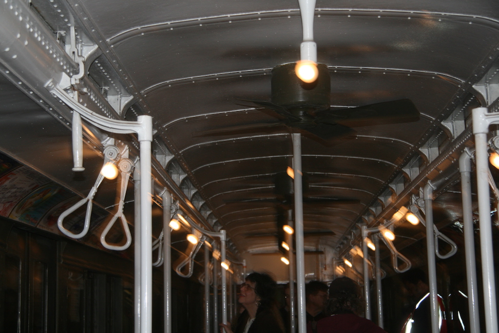 Ceiling of Vintage Train