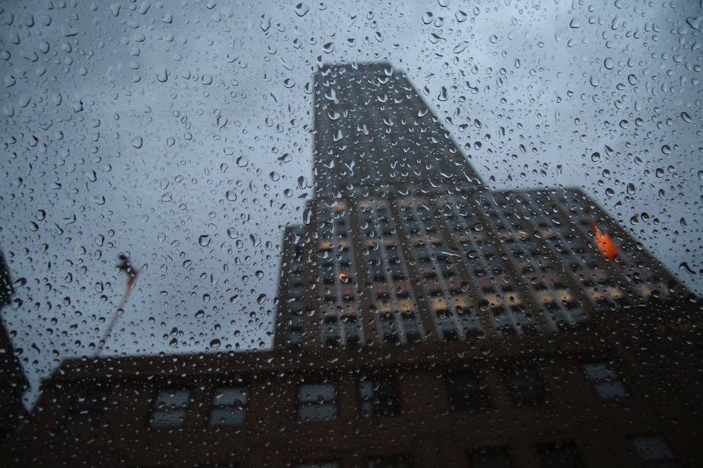 Empire State Building in the Rain