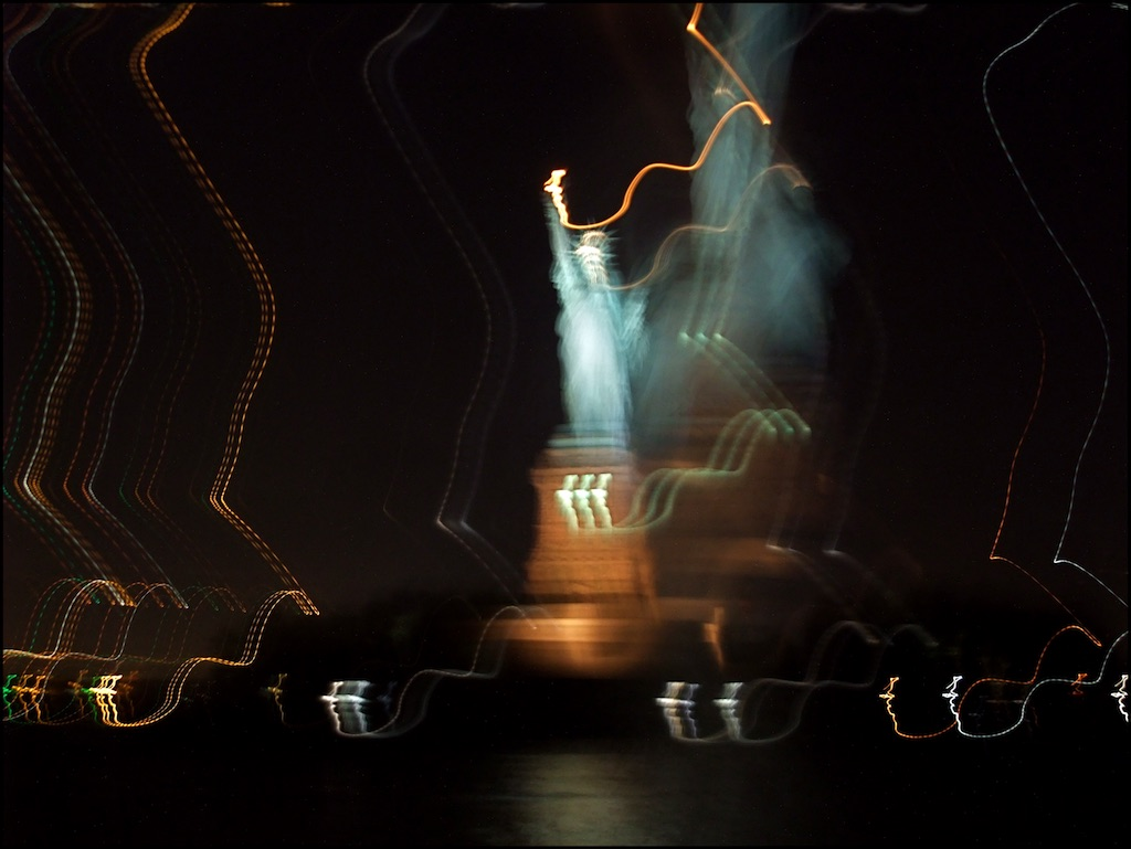 Lady Liberty Waving Her Wand
