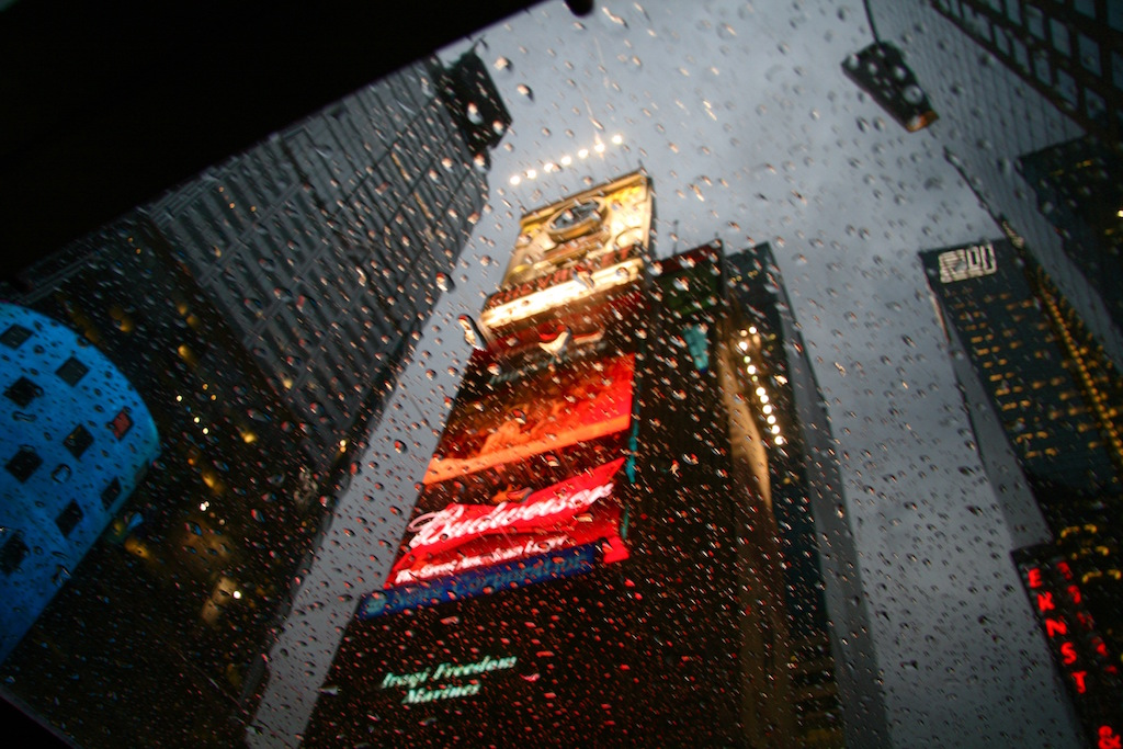 Number One Times Square in the Rain