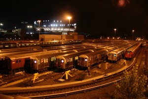 Flushing Train Yard Illuminated