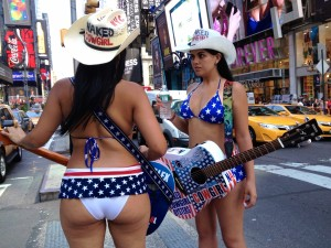 Cowgirls in Times Square