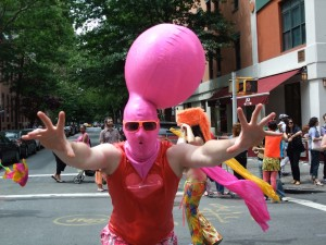Pink Balloon Head Dance Parade